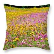 Roadside Flower Garden Throw Pillow