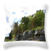 Roadside Rocks Throw Pillow