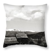 Roadside Route 66 Throw Pillow