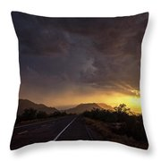 Roadside Sunset  Throw Pillow