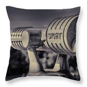 Roadside Telescope Throw Pillow