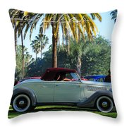 Roadster At The Castle Throw Pillow