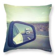 Roadtrip, Us Freeway Throw Pillow