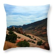 Roadway Rock Formations Arches National Park Throw Pillow