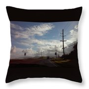 Roadway Throw Pillow