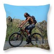 Roaming America Throw Pillow