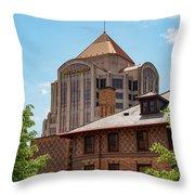Roanoke Architecture Throw Pillow