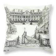 Roanoke College Throw Pillow