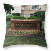 Roanoke College Sign Throw Pillow