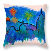 Roanoke In Blue Throw Pillow