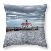 Roanoke Marshes Lighthouse, Manteo, North Carolina Throw Pillow