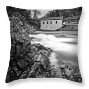 Roanoke River Flow Throw Pillow
