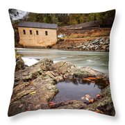 Roanoke River Niagra Rd Dam Throw Pillow