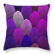 Roaring 20's Jazz Violet Throw Pillow