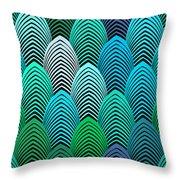 Roaring 20's Turquoise Throw Pillow