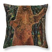 Roaring Bear Throw Pillow