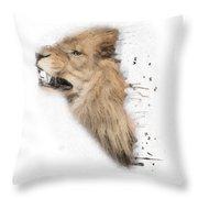 Roaring Lion No 04 Throw Pillow