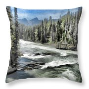 Roaring River Throw Pillow by Rich Stedman