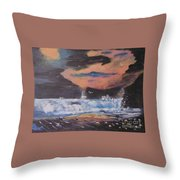 Roaring Seas Throw Pillow