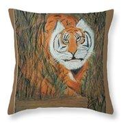 Roaring Tiger James Throw Pillow