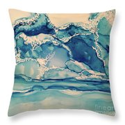 Roaring Waves Throw Pillow