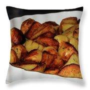 Roasted Potatoes Throw Pillow