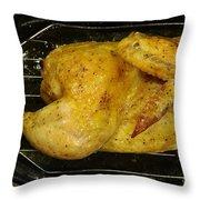 Roasting Half Chicken, 4 Of 4 Throw Pillow