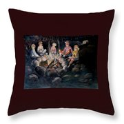 Roasting Marshmallows Throw Pillow