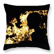 Roasting Marshmallows Over An Open Fire Throw Pillow