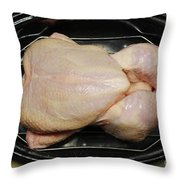 Roasting Whole Chicken, 1 Of 5 Throw Pillow