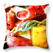 Roat Beef Throw Pillow