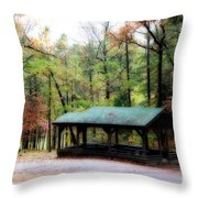 Robbers Shelter Throw Pillow