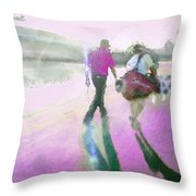 Robert Allenby Playing A Round Of Golf Dedicated To His Mother Throw Pillow
