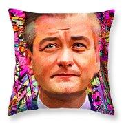 Robert Biedron Portrait 322a Throw Pillow
