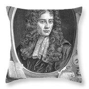 Robert Boyle, Irish Polymath Throw Pillow