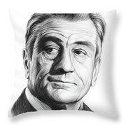 Robert De Niro 17aug18 Throw Pillow
