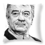 Robert Deniro Throw Pillow