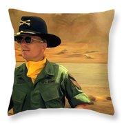 Robert Duvall @ Apocalypse Now Throw Pillow