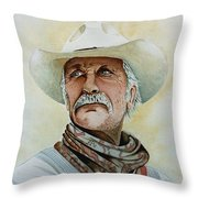 Robert Duvall As Augustus Mccrae In Lonesome Dove Throw Pillow