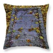 Robert Frosts Grave Throw Pillow