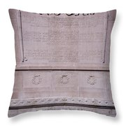 7- Robert Gould Shaw Monument - Back Side Eckfoto Boston Freedom Trail Throw Pillow
