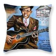 Robert Johnson Mississippi Delta Blues Throw Pillow
