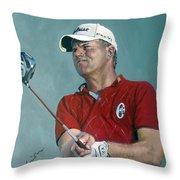 Robert Karlsson European Tour Throw Pillow
