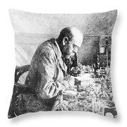 Robert Koch, German Bacteriologist Throw Pillow