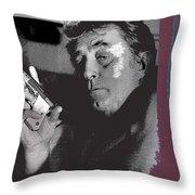 Robert Mitchum As Phillip Marlowe Neo Film Noir  The Big Sleep  1978. Throw Pillow
