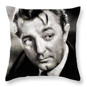 Robert Mitchum Hollywood Actor Throw Pillow