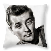 Robert Mitchum, Vintage Actor Throw Pillow