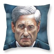Robert Mueller Portrait , Head Of The Special Counsel Investigation Throw Pillow