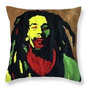 Robert Nesta Marley Throw Pillow