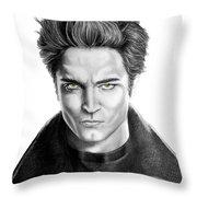 Robert Pattinson - Twilight's Edward Throw Pillow